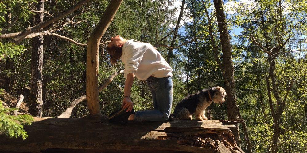 HikingYoga jeb divi vienā – pārgājiens un yoga gar klasisko Amatas labo